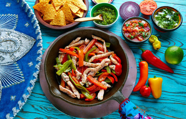 طريقة عمل فاهيتا الدجاج في البيت الفاهيتا المكسيكية